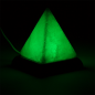 Preview: Mini Mood Salzlampe Pyramide weiß USB+LED