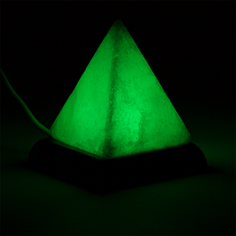 Mini Mood Salzlampe Pyramide weiß USB+LED